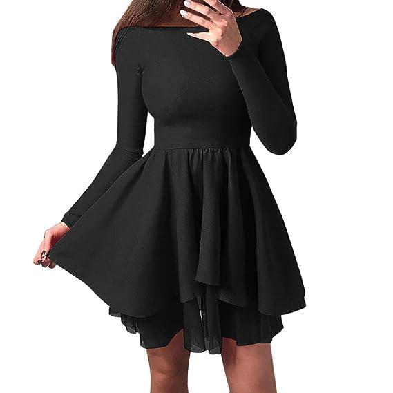 691291ddf2 Vintage 1950s Tutu Dresses for Women Elegant Off Shoulder Long Sleeve A  Line Knee Length Mesh Insert Fit and Flared Evening Party Skater Dress  Summer ...