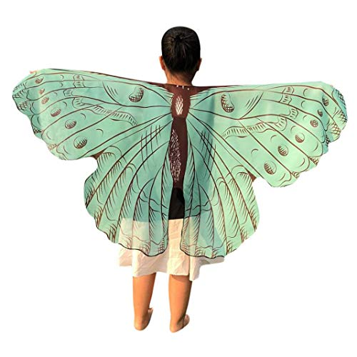 Hstore Boys Girls Halloween Butterfly Dance Wings Shawl Poncho&Scarves Clothes HOT (Light Blue) for $<!--$1.09-->