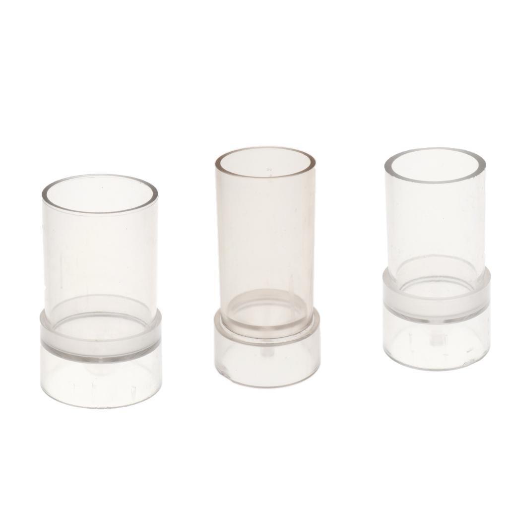 B Blesiya 3 Pezzi Di Plastica Trasparente Candele Strumenti Di Cera Stampo A Forma Di Tondo Per Candele Fai Da Te