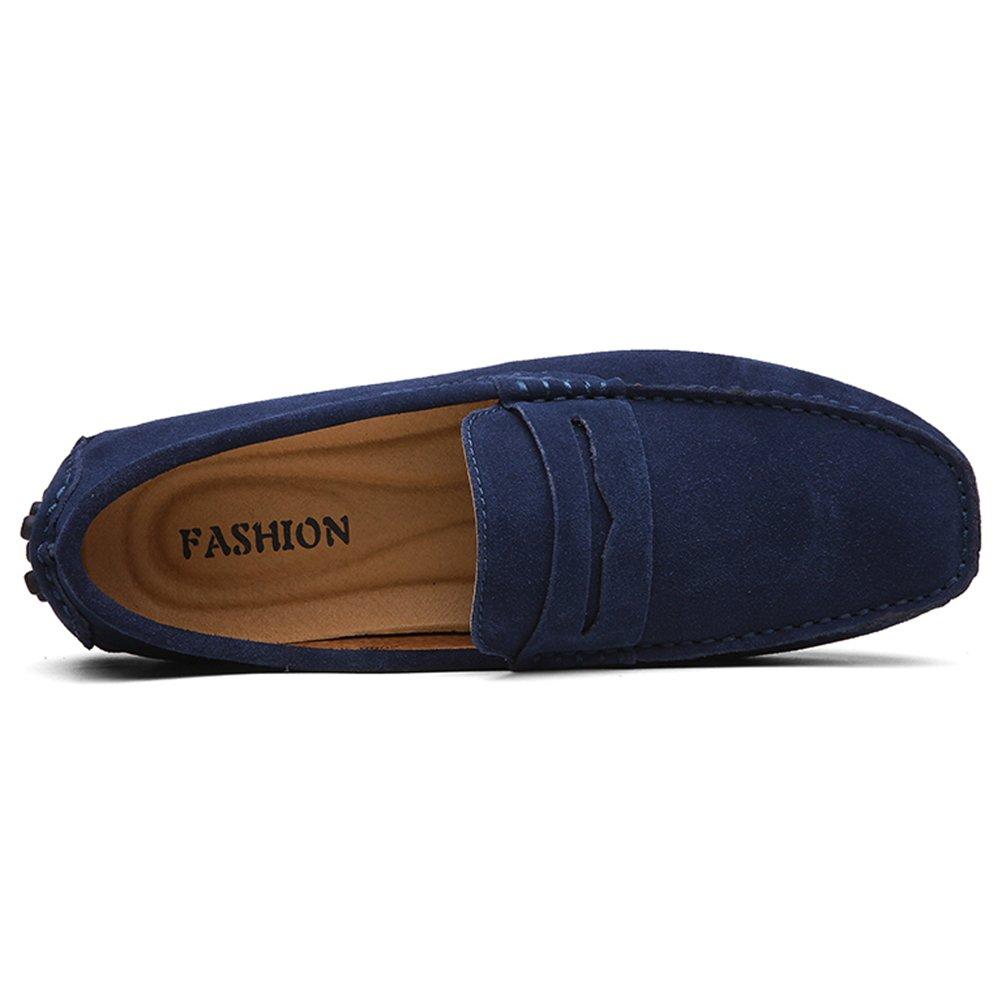 Yaer Mocassins de Conduite pour Hommes Plat Premium Slip-on Mocassin en Daim Chaussure Bateau