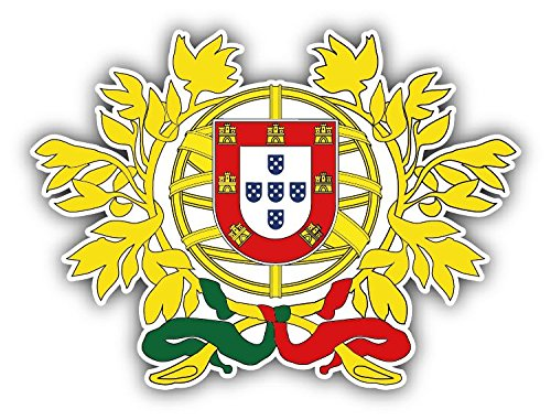 Portugal Coat Of Arms Home Decal Vinyl Sticker 5'' X 4'' (Portugal Coat)