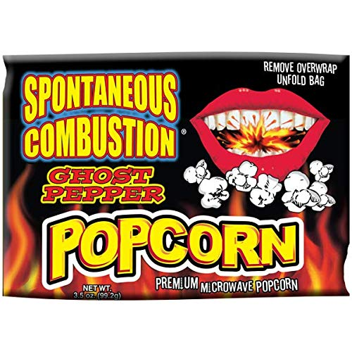 Spontaneous Combustion Ghost Pepper Microwave Popcorn 3 Pack