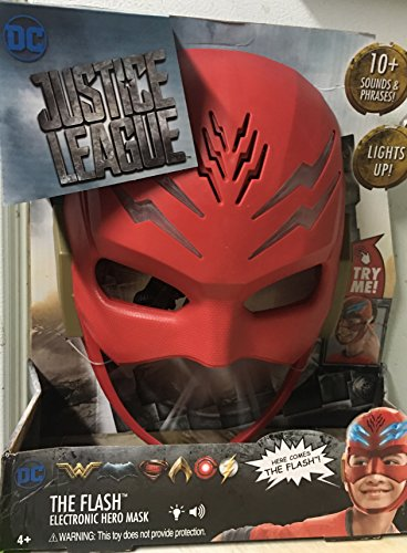 DC Justice League The Flash Electronic hero Mask 10+ sounds & Phrases, Lights Up FJN64 -