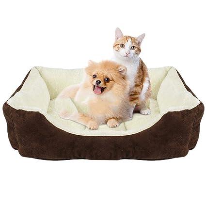 WLDOCA Cálido Suave Otoño Invierno Mascota Gato Litro para Cachorro Conejo Pequeñas Camas para Perros Nido. Pasa el ...