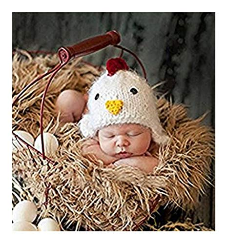 Pinbo Baby Photography Prop Crochet Knitted Cute Animal Chick Hat Cap