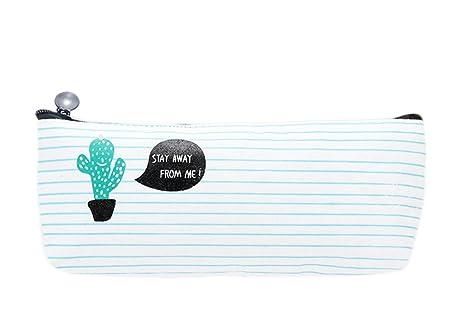 Hosaire Caja de Escritorio Estuches Lápices Bolsa de Lápices Plumas Bolígrafos Material Lona para Escolar Papelería Escuela (Style 2)