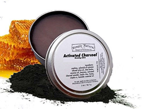 Activated Charcoal Salve - Natural Herbal Skin (Chamomile Primrose Salve)