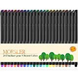 #6: Bullet Journal 24 Pieces Colored Pens, 0.4mm Fineliner Drawing Journal Pens, Porous Fine Point Markers, Perfect for Coloring Book & Calendar Note Coloring Art Projects or Bullet Journal Supplies