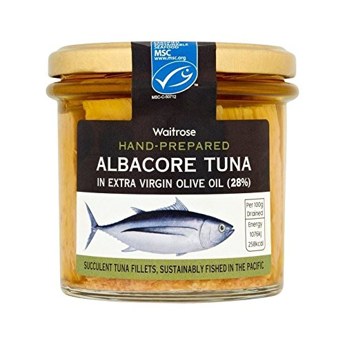 Price comparison product image Albacore Tuna in Olive Oil Waitrose 220g - Pack of 2