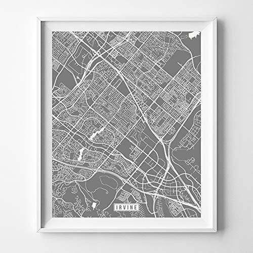 Amazon.com: Irving Texas Map Print Street Poster City Road Wall Art on