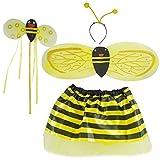 ShiyiUP 4pcs Girls Honeybee Ladybug Wing Costume