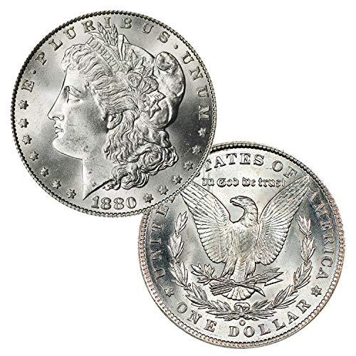 1880 O Morgan Silver Dollar $1 Brilliant Uncirculated (1880 O Morgan Silver Dollar Coins)