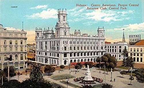 Asturian Club, Central Park Habana Cuba, Republica de Cuba Postcard