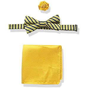 U.S. Polo Assn. Men's Striped Bow Tie, Pocket Square And Lapel Pin Set