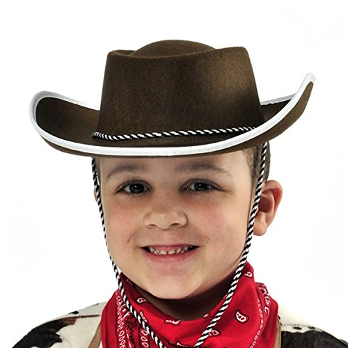 Western Dress Up - Amscan High Riding Western Party Child's Cowboy Hat (1 Piece), Brown, 14.2 x 9.8