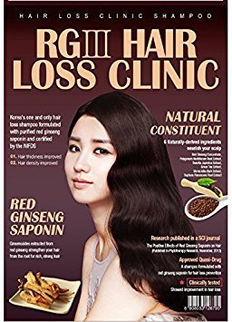 520ml - Hair Regeneration Clinic Shampoo w/ Purified Red Ginseng Saponin & 6 Natural Derived Ingredients for Hair Loss / Regrowth / Strengthening / for both Men and Woman by RGIII - Patented