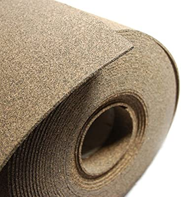 1//8 Thick X 48 Wide X 3 Long Cork and Rubber With Adhesive
