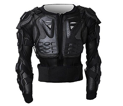 Tactical Armor - Motorcycle Full Body Armor Protector Pro Street Motocross ATV Guard Shirt Jacket with Back Protection Black 2XL
