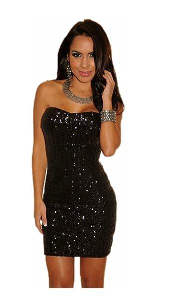 best service 8f863 05eeb Mela Proibita - Mini abito donna NERO sexy vestito corto ...