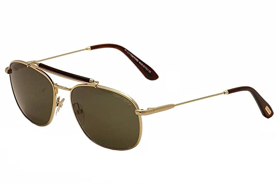 fc297300e4a5 Amazon.com  Tom Ford TF339-28N Gold   Brown Sunglasses  Shoes