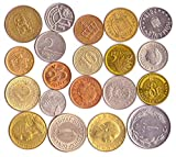 20 Different Coins from Unique Countries Around The