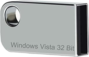 ILamourCar USB Compatible with Windows Vista x32 Home Premium. Recovery Repair Reinstall Full Support, 16GB Flash Drive for Desktop&Laptop - Light Silver