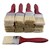 """BQLZR 1.8"""" Oil Paint Brushes Chip Bristles Brush Red Wood Shank for Wall Painting Cleaning Dusting Pack of 20"""