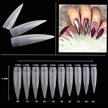 Stiletto - 500 puntas de uñas postizas naturales de forma ...