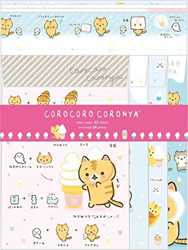- Corocoro Coronya Neko Cat San-x Letter Stationery Set Sweet Limited Edition Made in Japan