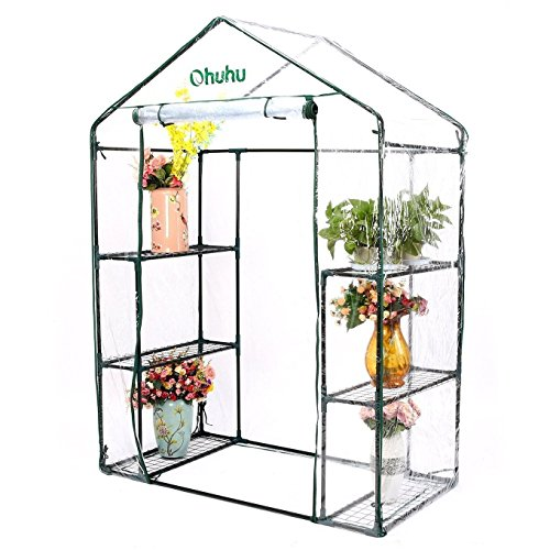 Ohuhu Large Walk-in Plant Greenhouse, Garden Green House for Outdoor Indoor Use (3 Tier & 6 Shelve)