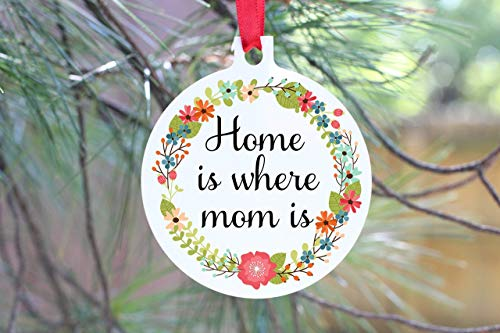 LookAtTheseCups - Round, aluminum sentimental Christmas Ornament for mom or grandmother ()