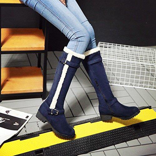 Invierno Zapatos Martin partido Luck For Black Otoño Mujeres Casuales Botas Blue Agecc 37 Good You Todo Damas I4gqEynwS