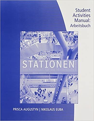 Book Student Activity Manual for Augustyn/Euba's Stationen