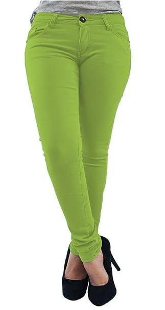 f1109068017f Pantaloni da donna, jeans elasticizzati tipo leggins, modello skinny,  taglia da 36 a 54: Amazon.it: Abbigliamento