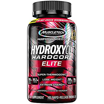 Hydroxycut Hardcore Elite 100mg Coleus Forskohlii, 56.3mg Yohimbe, 200mg Green Coffee, 100mg L-Theanin