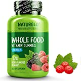 #10: NATURELO Whole Food Vitamin Gummies for Adults - Chewable Gummy Multivitamin for Women - Organic Great Tasting Berry Flavor - 120 Gummies