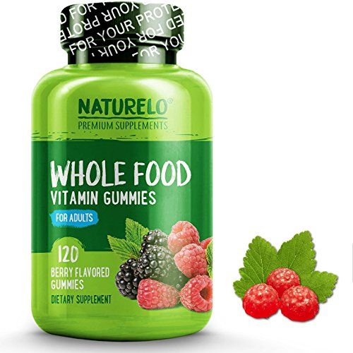 NATURELO Whole Food Vitamin Gummies for Adults - Chewable Gummy Multivitamin for Women - Organic Great Tasting Berry Flavor - 120 Gummies