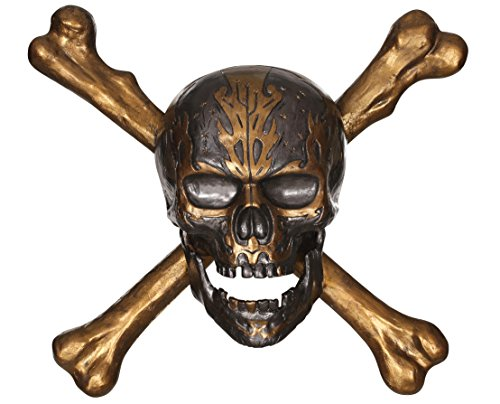 Disney Pirates of The Caribbean 3D Skull & Crossbones Wall Decoration ()