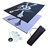 RV Patio Mat Awning Mat Outdoor Leisure Mat 9×12 Pirate Flag Complete Kit For Sale