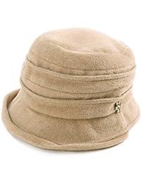 1c36d43f4be Womens Woolen Derby Hat 1920s Fedora Round Bucket Fall Winter Bowler Beret  Painter 55-59cm
