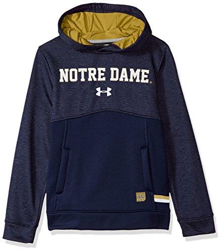 Under Armour NCAA Notre Dame Fighting Irish Teen-Boys NCAA Boys Storm Fleece Hood, Small, Navy