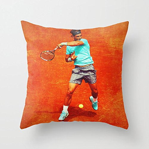 Throw pillow cover Rafael Nadal Tennis On Clay Case with Good-Looking And Rich Color Printing for Bed Couch Sofa