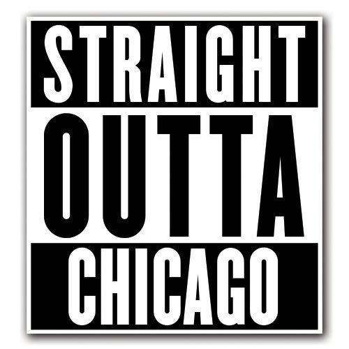 MFX Design Magnet Chicago - Straight Outta Series Magnet car Truck Magnetic Vinyl Sticks to Any Metal surface4.7 Inches x 5.4 Inches (Best Car Wrap Chicago)