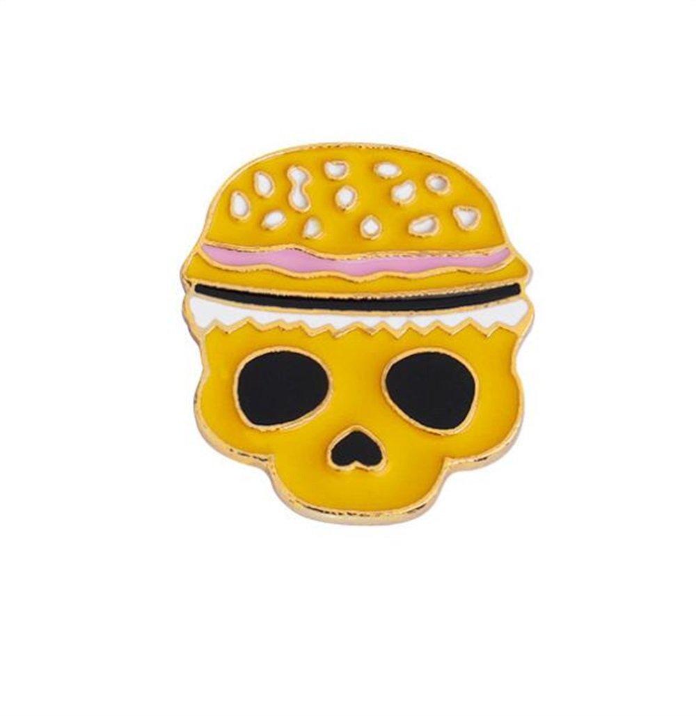 Enamel Pin Badge Souvenir Badge de Badge de crâne de dessin animé Badge Badge Badge (couleur jaune) TOUYOUIOPNG