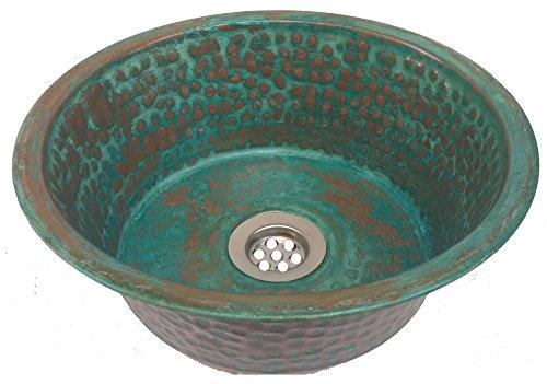 Hammered Copper Bathroom Sink - 2