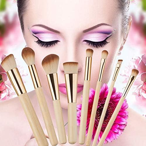 Oro VCB 8 Piezas Profesionales de Maquillaje de Tubo Dorado cepillos faciales Herramientas de Maquillaje diarias