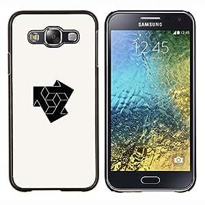 KLONGSHOP // Cubierta de piel con cierre a presión Shell trasero duro de goma Protección Caso - cubo de combinar logo - Samsung Galaxy E5 E500 //