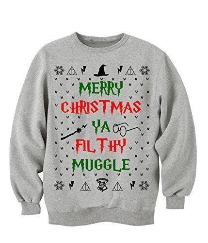 ugly christmas sweater for women harry potter muggle ya filthy animal - Harry Potter Ugly Christmas Sweater