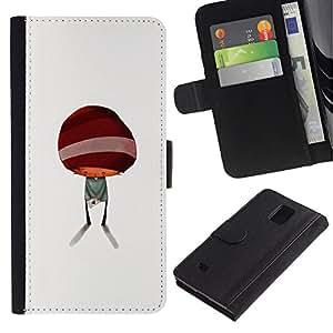 KingStore / Leather Etui en cuir / Samsung Galaxy Note 4 IV / Resumen minimalista Cabrito Lindo