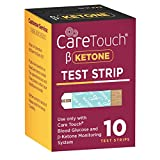 Care Touch Ketone Test Strips - 10 Ketone Blood Test Strips for Diabetics and Ketogenic, Paleo and Atkins Diet